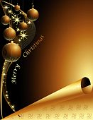 stock photo of merry christmas  - Merry Christmas background made of gold and black details - JPG