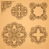 Decorative floral elements.