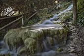 pic of water-mill  - Little River near the ruins of aqueducts and mills water Roman times - JPG