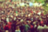 Defocussed Concert Crowd At Music Festival