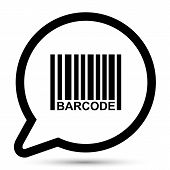 Vector bubble with barcode icon