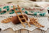 Lestvitsa, Russian Rye Festive Spring Cookie On Handmade Rushnik