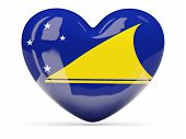 Heart Shaped Icon With Flag Of Tokelau