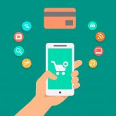 Illustration concepts of online payment methods.