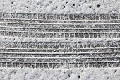 Snow Car Tracks