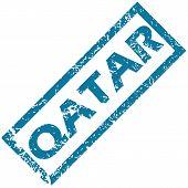 stock photo of qatar  - Qatar grunge rubber stamp on a white background - JPG
