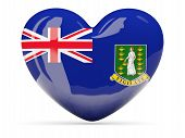 Heart Shaped Icon With Flag Of British Virgin Islands