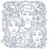 Girl Faces 1