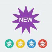 Vector new flat circle icon