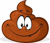 pic of excrement  - funny poo cartoon  - JPG