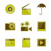 Icons Video And Photo Filming, Vector Illustration.
