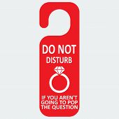 Vector hotel tag do not disturb with ring icon
