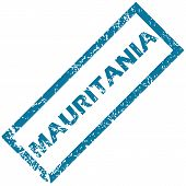 Mauritania rubber stamp