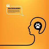 Dog paw sign icon. Pets symbol.