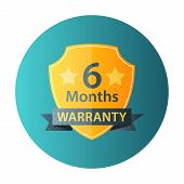 Six Months Warranty Circle Icon