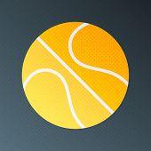 Basketball Halftone Stylized Illustration