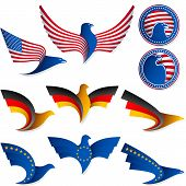 Bird Fly Flag Sign Symbol Insignia Medal United States Germany Europe