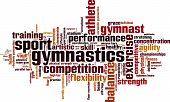 Gymnastics Word Cloud