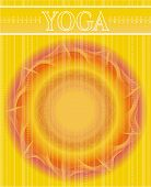 Abstract yellow backdrop with text Yoga