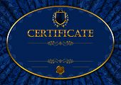 picture of lace-curtain  - Elegant template of diploma with lace ornament - JPG