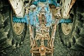 old tractor from a farm