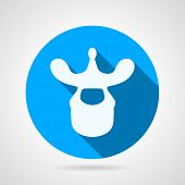 Thoracic vertebra blue vector icon