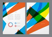 Abstract modern bright multicolored flyer.