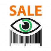 stock photo of barcode  - Template icon - JPG