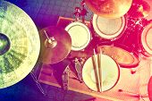 pic of drum-set  - Drums conceptual image - JPG