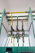 stock photo of electric station  - Electric connection lines - JPG