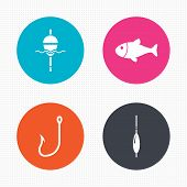 image of fishing bobber  - Circle buttons - JPG