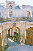 stock photo of caravan  - The best way to feel the eastern hospitality is to stay at the medieval restored Caravan Saray Bukhara Uzbekistan - JPG