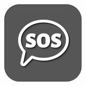 picture of sos  - The sos speech bubble icon - JPG