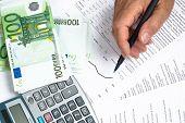 Market Data Euro Hand And Pen Calculator