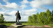 pic of lenin  - a monument to Vladimir Lenin in the village of Gorki - JPG