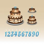 picture of candle flame  - Birthday Cake with Candles Numerals Flame Fire Light - JPG