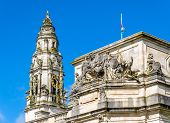 stock photo of edwardian  - Details of City Hall of Cardiff  - JPG