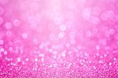stock photo of glitter sparkle  - Pink baby girl birthday glitter sparkle background - JPG