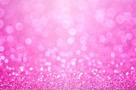 stock photo of new years baby  - Pink baby girl birthday glitter sparkle background - JPG