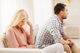 stock photo of conflict couple  - people - JPG
