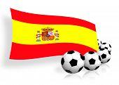 Soccer Balls & Flag Of Spain