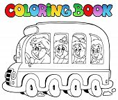 Coloring Book With School Bus