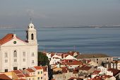 Portugal. Panorama of Lisbon from a viewing point of Santa Luzia