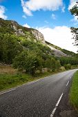 Norway Mountain Summer Green Road