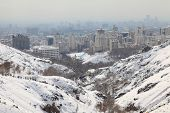 picture of tehran  - Northern area of Tehran city in winter - JPG