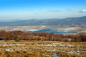 lake up in mountains