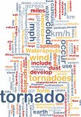 image of colouder  - Background concept wordcloud illustration of tornado storm weather - JPG