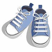 Children blue sneaker