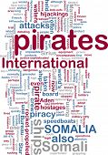 Word cloud concept illustration of Somali pirates