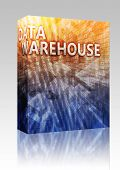 Software package box Data warehouse abstract, computer technology concept illustration